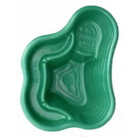 Декоративный пластиковый пруд на 150 литров зеленый