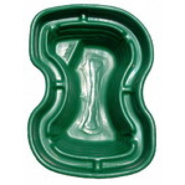 Зеленый пластиковый пруд на 400 литров