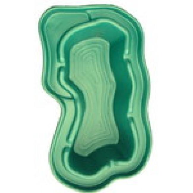Зеленый пластиковый пруд 750 л.
