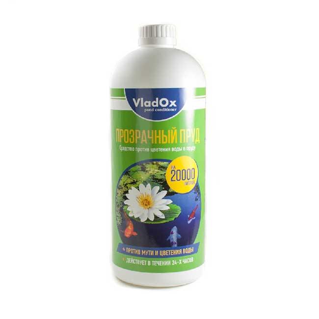 VLADOX ПРОЗРАЧНЫЙ ПРУД против цветения и помутнения воды на 20 кубов