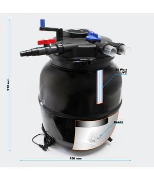 Напорный фильтр CPF-50000 УФ 55 ВТ