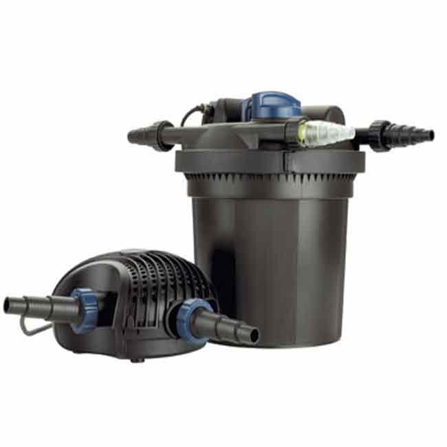 Фильтр с насосом для пруда.