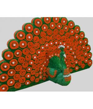 Павлин веерный оранжевый