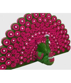 Павлин веерный розовый