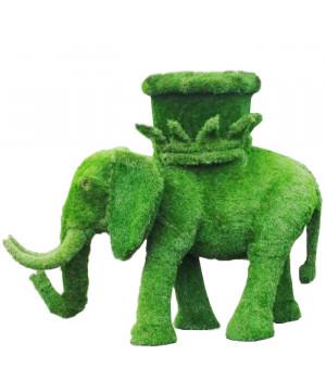 Слон с кашпо