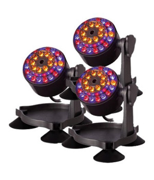 Подсветка светодиодная на подставке, пластик, 27 разноцветных светодиодов, 3 шт